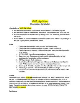 CUSTOM Cheerleading Tryout Packet