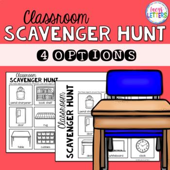 CUSTOM Classroom Scavenger Hunt
