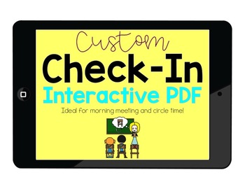 CUSTOM Daily Check-In Interactive PDF for Special Educatio