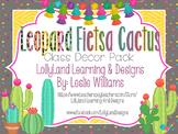"CUSTOM ""LEOPARD"" Fiesta Cactus Classroom Decor Pack-KORIE"