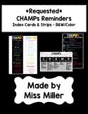 CUSTOM LISTING - CHAMPs Card