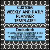 CUSTOM MADE PLAN BOOK TEMPLATE! (INCLUDES WEEKLY AND DAILY