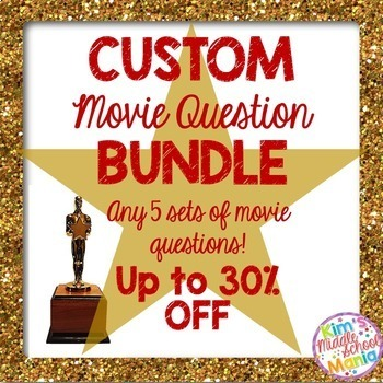 CUSTOM MOVIE QUESTION BUNDLE (created for Vicki H.)