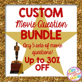 CUSTOM Movie Question BUNDLE End of Year Activity