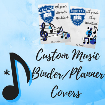 CUSTOM Music Binder/Planner Covers