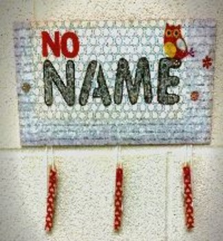 "CUSTOM ""No Name"" Sign"
