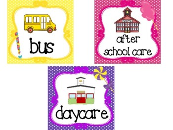 CUSTOM ORDER-Candy themed Printable How We Go Home. Classroom  Management.