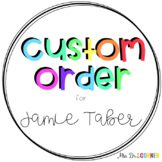 CUSTOM ORDER FOR Jamie Taber