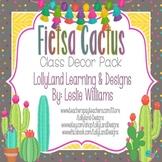 """Fiesta Cactus"" Classroom Decor Pack"