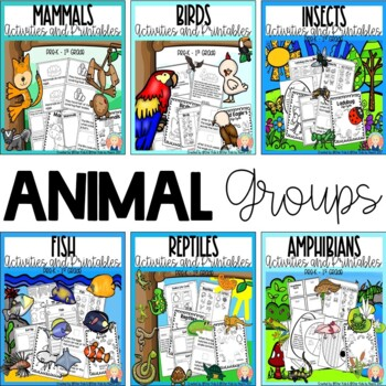 ANIMAL GROUPS BUNDLE FOR KINDERGARTEN AND FIRST GRADE