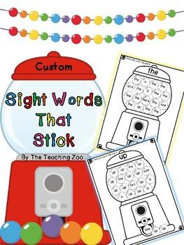 CUSTOM ORDER Sight Words that Stick