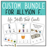 CUSTOM TASK CARD BUNDLE FOR ALLYSON F.