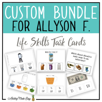 CUSTOM TASK CARD BUNDLE FOR ALLYSON F.