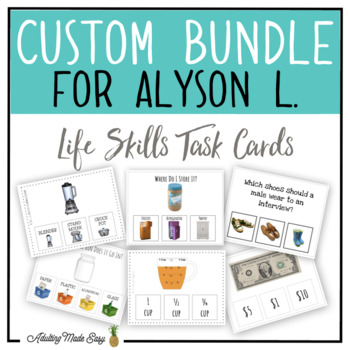 CUSTOM TASK CARD BUNDLE FOR ALYSON L.