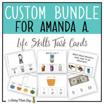 CUSTOM TASK CARD BUNDLE FOR AMANDA A.