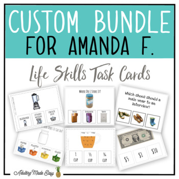 CUSTOM TASK CARD BUNDLE FOR AMANDA F.