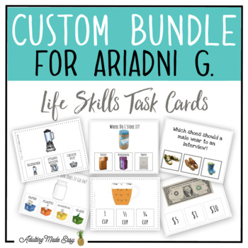 CUSTOM TASK CARD BUNDLE FOR ARIADNI G.