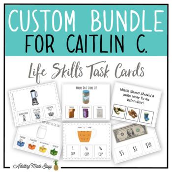 CUSTOM TASK CARD BUNDLE FOR CAITLIN C.