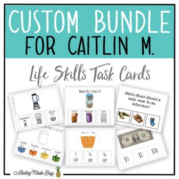 CUSTOM TASK CARD BUNDLE FOR CAITLIN M.