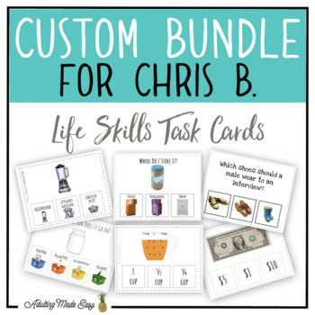 CUSTOM TASK CARD BUNDLE FOR CHRIS B.