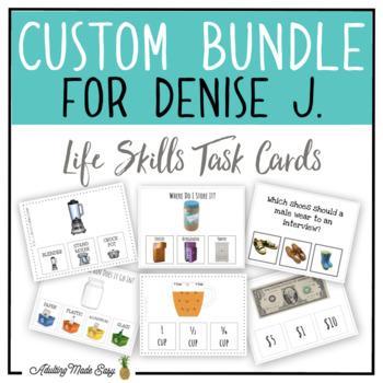 CUSTOM TASK CARD BUNDLE FOR DENISE J.