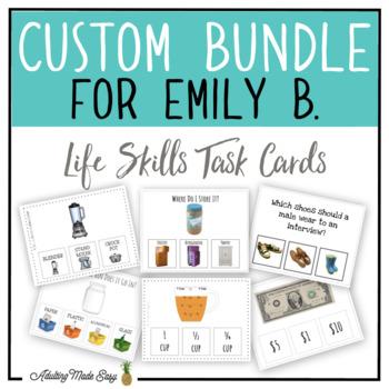 CUSTOM TASK CARD BUNDLE FOR EMILY B