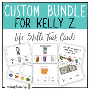 CUSTOM TASK CARD BUNDLE FOR KELLY Z.
