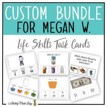 CUSTOM TASK CARD BUNDLE FOR MEGAN W.