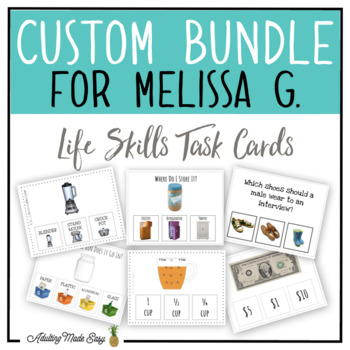 CUSTOM TASK CARD BUNDLE FOR MELISSA G.