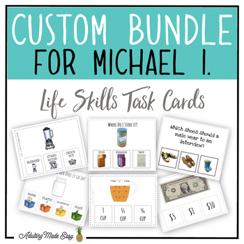CUSTOM TASK CARD BUNDLE FOR MICHAEL I.