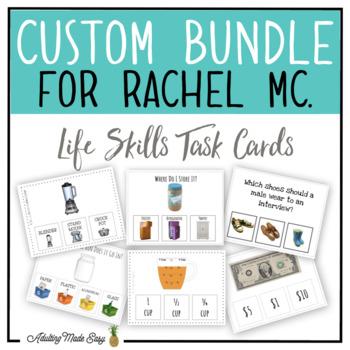CUSTOM TASK CARD BUNDLE FOR RACHEL MC.