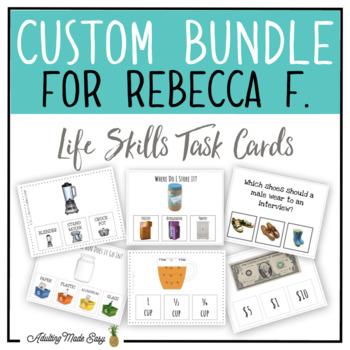 CUSTOM TASK CARD BUNDLE FOR REBECCA F