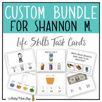 CUSTOM TASK CARD BUNDLE FOR SHANNON M.
