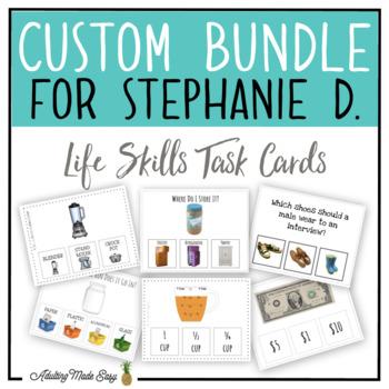 CUSTOM TASK CARD BUNDLE FOR STEPHANIE D.