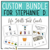 CUSTOM TASK CARD BUNDLE FOR STEPHANIE D.