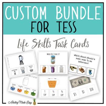 CUSTOM TASK CARD BUNDLE FOR TESS