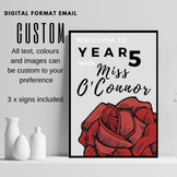 CUSTOM classroom / cover page / folder signs  INCLUDES 3