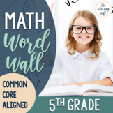 CUSTOM for Kathleen Math Word Wall 5th Grade {Common Core