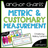 Customary & Metric Measurement Anchor Charts