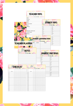 CUSTOMIZABLE FLORAL PRINTABLE BINDER/PLANNER (reusable for years)
