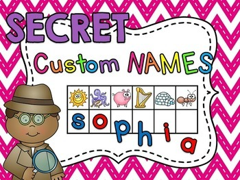 Student Names CUSTOM Secret Word Cards (Beginning Sounds &