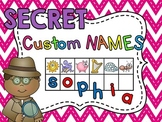 Student Names CUSTOM Secret Word Cards (Beginning Sounds & Sign Language)