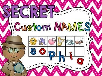 Student Names CUSTOM Secret Word Cards (Beginning Sounds &
