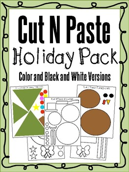 CUT N PASTE HOLIDAY CRAFT PACK | CHRISTMAS, THANKSGIVING, WINTER