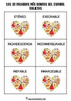 Vocabulario español avanzado: Actividades con las 35 palabras más bonitas
