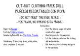 CUT-OUT CLOTHING PAPER DOLL