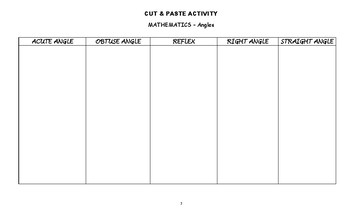 CUT & PASTE ACTIVITY - Angles