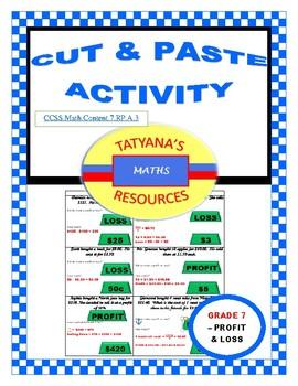 CUT & PASTE ACTIVITY- PROFIT & LOSS