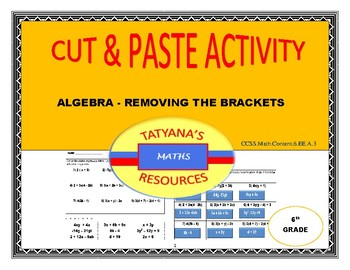 CUT & PASTE ACTIVITY -Removing the Brackets