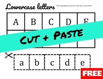 CUT & PASTE: Upper/Lowercase Alphabet Match